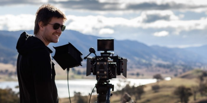 in the field - James with IR rig