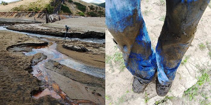 muddy conditions beside the Goodradigbee