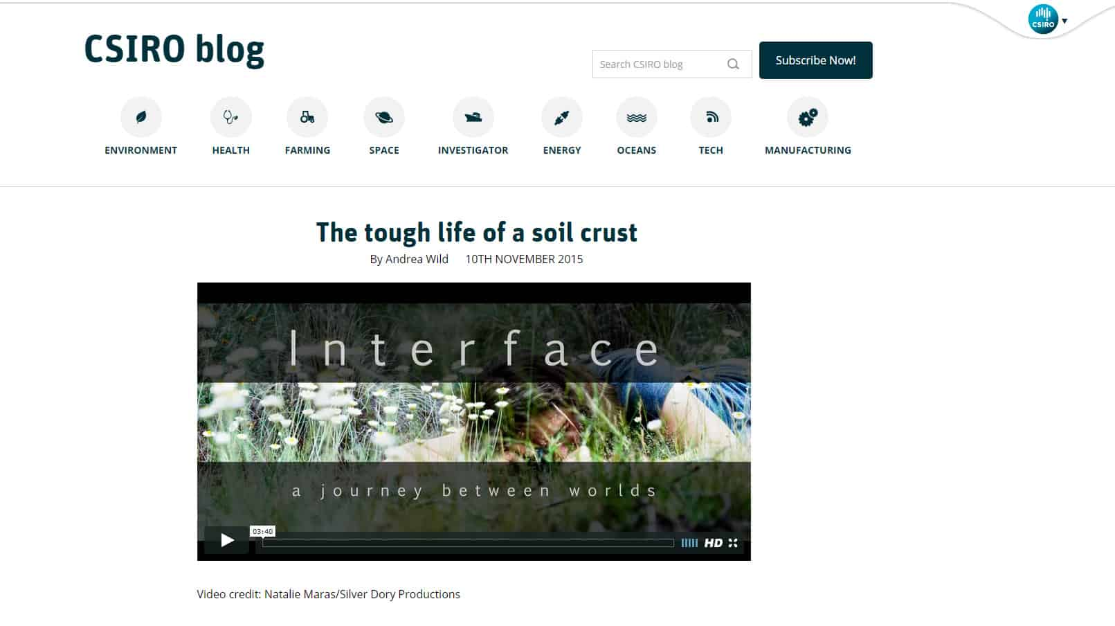 interface | CSIRO Blog