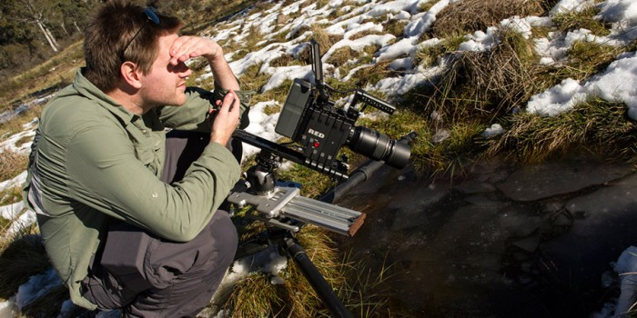 James at Corin Forest - shooting ice