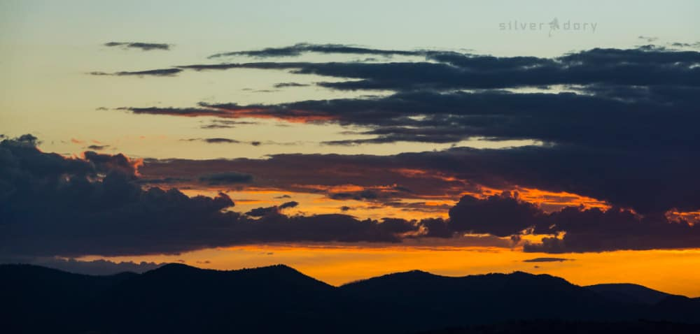 summer sunset - Mt Wanniassa